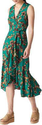 Whistles Capri Print Midi Wrap Dress