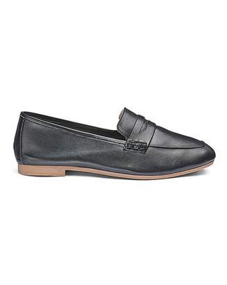 Heavenly Soles Soft Leather Loafers E Fit