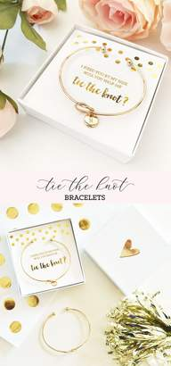 Etsy Tie The Knot Bracelet Gold Tie The Knot Bracelet Bridesmaid Proposal Will You Help Me Tie The Knot B