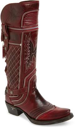 LANE BOOTS Zip It Convertible Knee High Western Boot