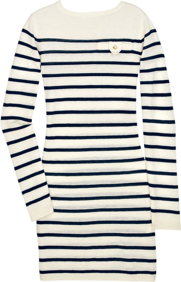 Crumpet Breton mini cashmere sweater dress