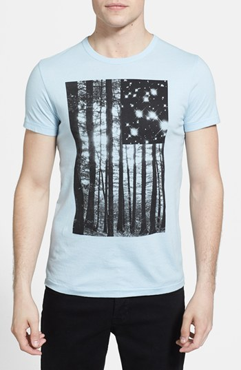 French Connection 'Tree Stars' Slim Fit Graphic T-Shirt