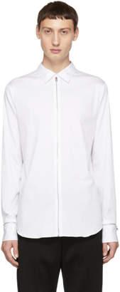 Alexander McQueen White Poplin Zip Shirt