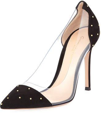 Gianvito Rossi Mini Stud Plexi Illusion Pumps