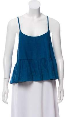 Creatures of Comfort Sleeveless Pleated Top