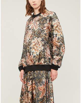 Y-3 Y3 Reversible floral-print quilted satin sweatshirt
