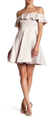 Sequin Hearts Flutter Off the Shoulder Dress (Juniors) $64 thestylecure.com