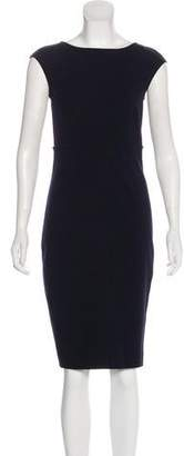 Magaschoni Bateau Neckline Knee-Length Dress