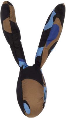 Marni Dance Bunny Multicolor Camo Bunny Head Brooch