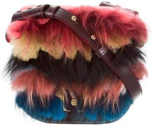 Paula Cademartori 2015 Fur-Trimmed Beth Shoulder Bag