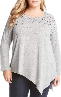 Karen Kane Asymmetrical Star Print Sweater