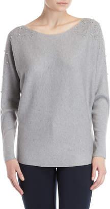 Vila Milano Embellished Shoulder Sweater