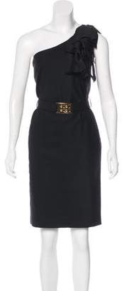 Fendi One-Shoulder Mini Dress