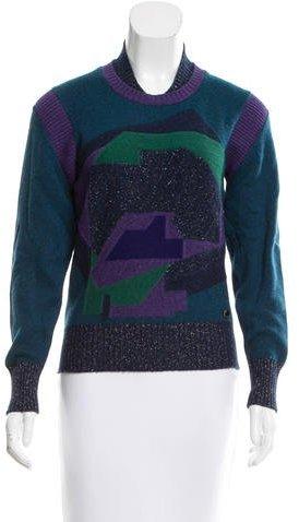 ChanelChanel Cashmere Intarsia Sweater