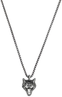 Gucci Jewel Anger Forest Wolf Necklace 55 Cm Sterling Silver With Aureco Finishing