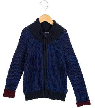 Little Marc Jacobs Boys' Two-Tone Zip-Up Sweater w/ Tags