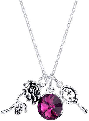 Disney Beauty and the Beast Silver Over Brass Pendant Necklace