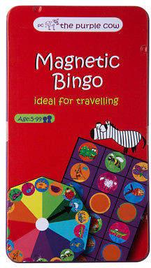 NEW Purple Cow Magnetic Bingo Travel Game