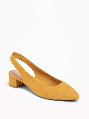 Old Navy Faux-Suede Sling-Back Mid-Heel Shoes for Women