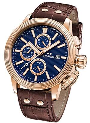 TW Steel 'CEO Adesso' Quartz Casual Watch, Color:Brown (Model: CE7017)