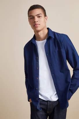 French Connenction Indigo Jacquard Dot Shirt