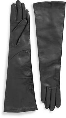 Lord & Taylor Leather Opera Length Gloves