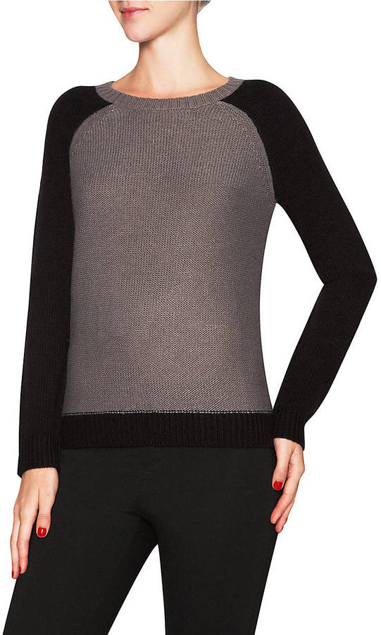 MANOUKIAN Color Block Raglan Pullover