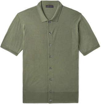 e2709182ab Thom Sweeney Slim-Fit Merino Wool Polo Shirt