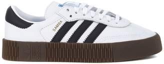adidas Sambarose Black And White Leather Sneaker With Platform