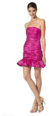 Jessica McClintock Taffeta Strapless Dress