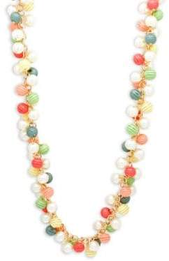 Kenneth Jay Lane Multicolored Crystal Necklace