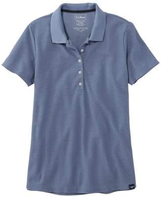 L.L. Bean L.L.Bean Women's Premium Double L Shaped Polo, Short-Sleeve Print