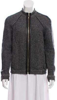 White + Warren Mock-Neck Woven Jacket