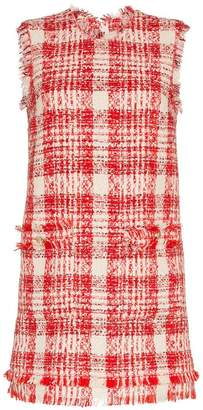 MSGM check tweed mini dress