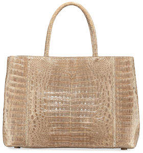 Nancy Gonzalez Large Crocodile Sectional Tote Bag