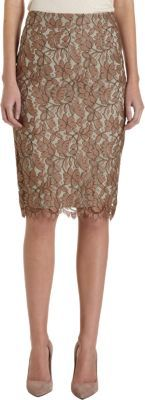 Barneys New York Lace Pencil Skirt