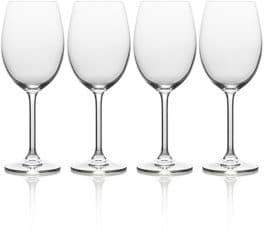 Mikasa Julie Four-Piece Stem White Wine Drinking Glass Set