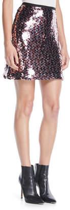 McQ Sequin Mini-Length Tube Skirt