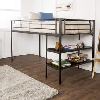 LOFT Mainstays Ansley Metal Twin Low Bed, Black