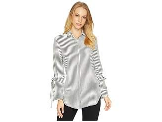Bishop + Young Stripe Tie Sleeve Blouse