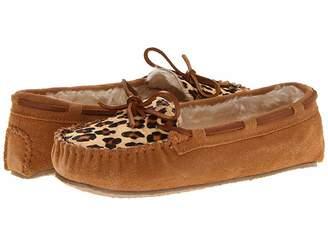 Minnetonka Leopard Cally Slipper