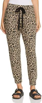 LnA Brushed Leopard Print Sweatpants