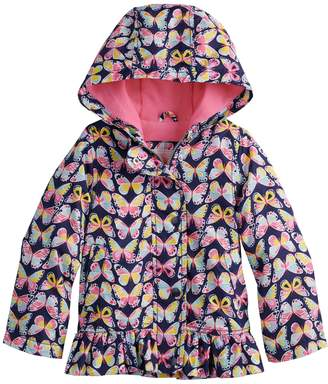 Carter's Toddler Girl Midweight Butterfly Hooded Rain Jacket