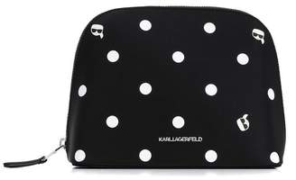 Karl Lagerfeld Paris polka dots washbag