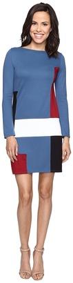 Christin Michaels Amae Long Sleeve Color Block Dress $84 thestylecure.com