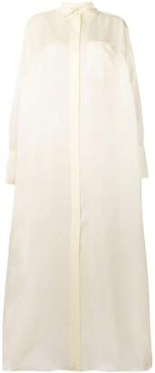 The Row oversized maxi shirt