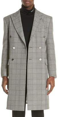 Calvin Klein Plaid Overcoat