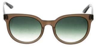 Barton Perreira Gradient Round Sunglasses