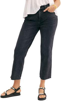 Free People High Waist Crop Jeans