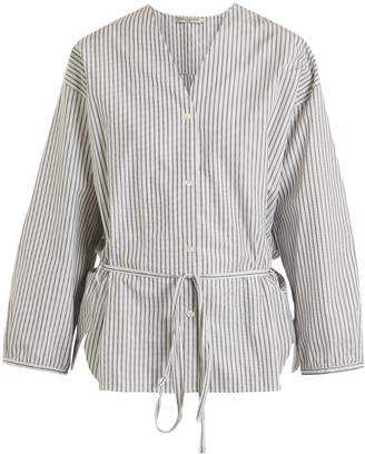 THREE GRACES LONDON Fillide striped cotton pyjama shirt
